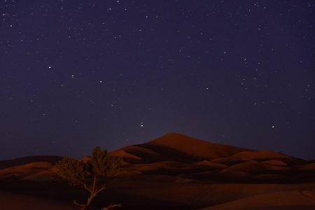 Nuit étoilée dans le désert de Merzouga