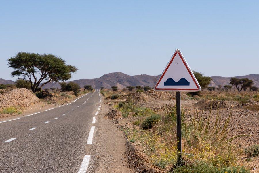 Panneau attention chameaux