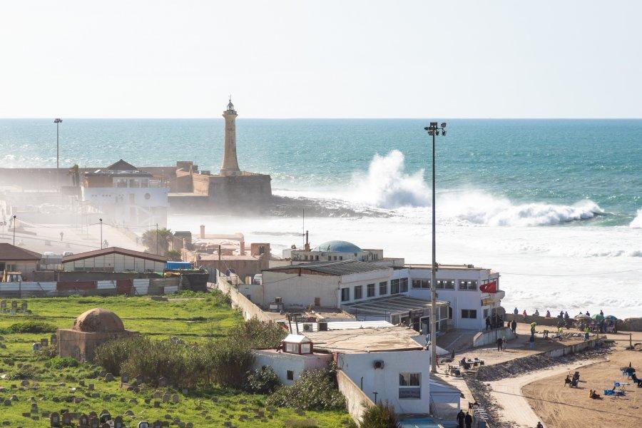 Plage de Rabat, Maroc