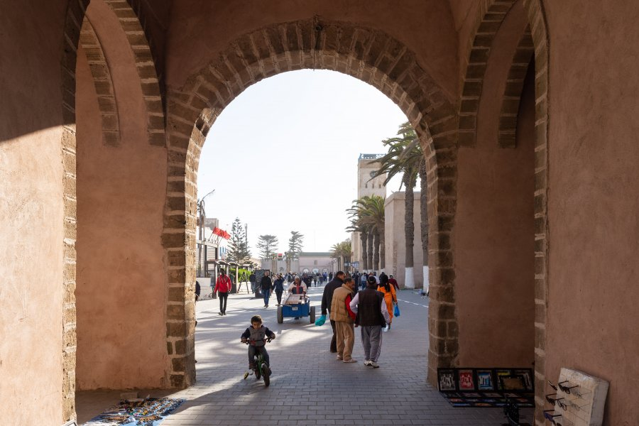Porte d'Essaouira au Maroc