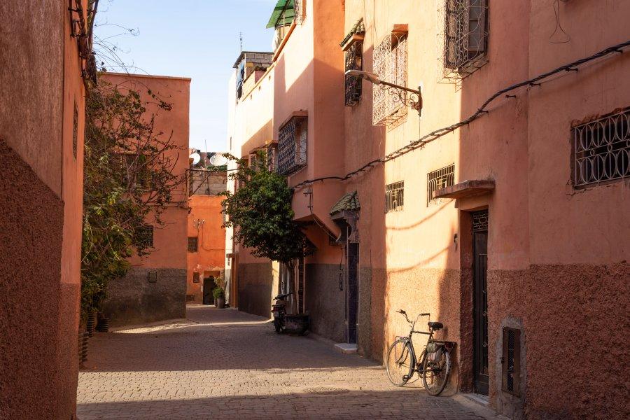Quartier de la kasbah à Marrakech, Maroc