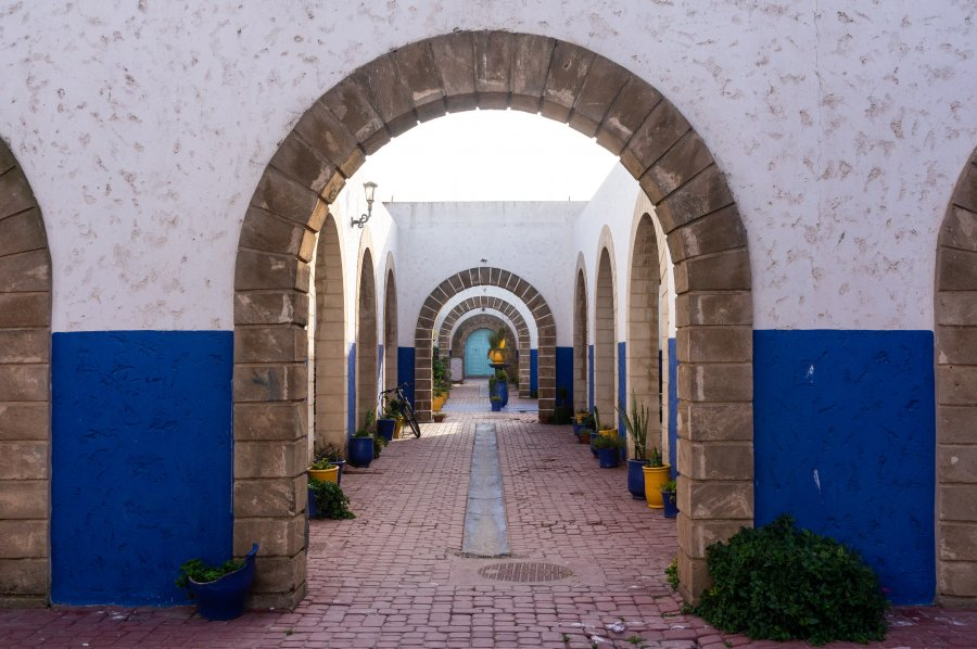 Quartier rénové à Essaouira