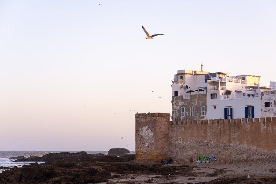 Remparts d'Essaouira au lever du soleil