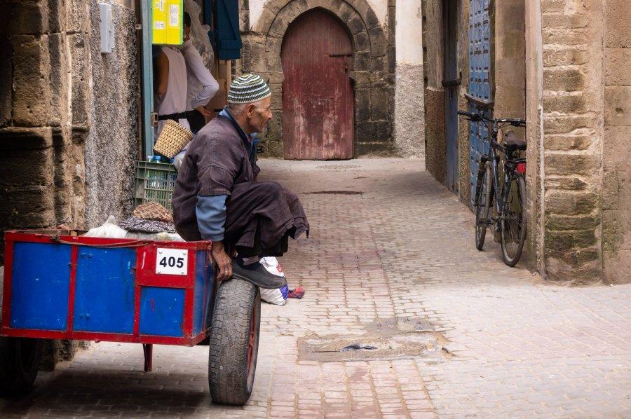 Rue de la médina d'Essaouira au Maroc