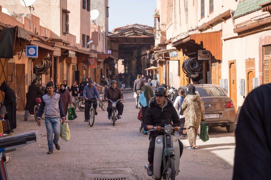 La médina de Marrakech au Maroc