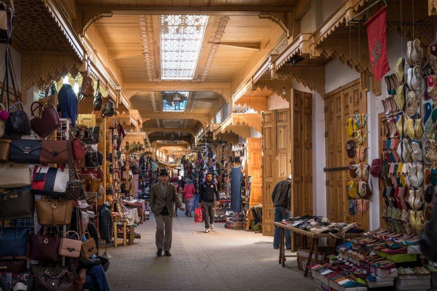 Souk d'artisanat à Rabat, Maroc