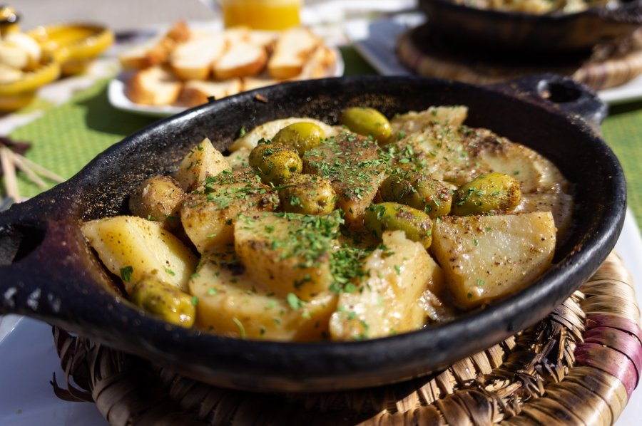 Tajine patates et olives
