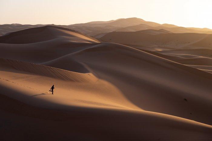 Les dunes du Sahara à Merzouga