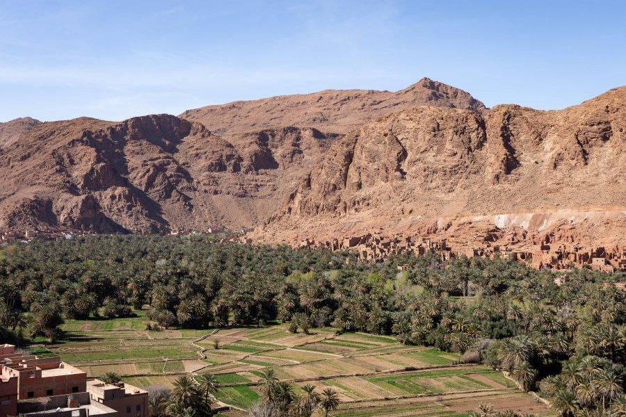 Paysage de montagne près de Tinghir, Maroc