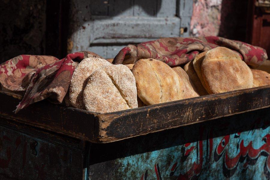 Vendeur de pains marocains