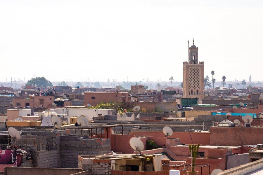 Vue panoramique sur Marrakech