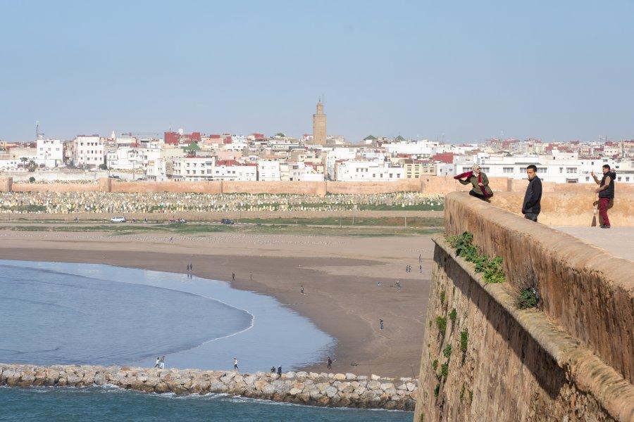 Vue sur Salé depuis Rabat