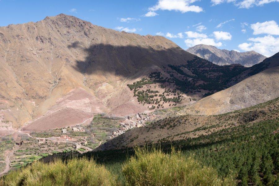 Montagnes autour d'Imlil au Maroc