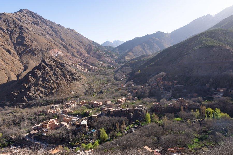 Village d'Imlil au Maroc