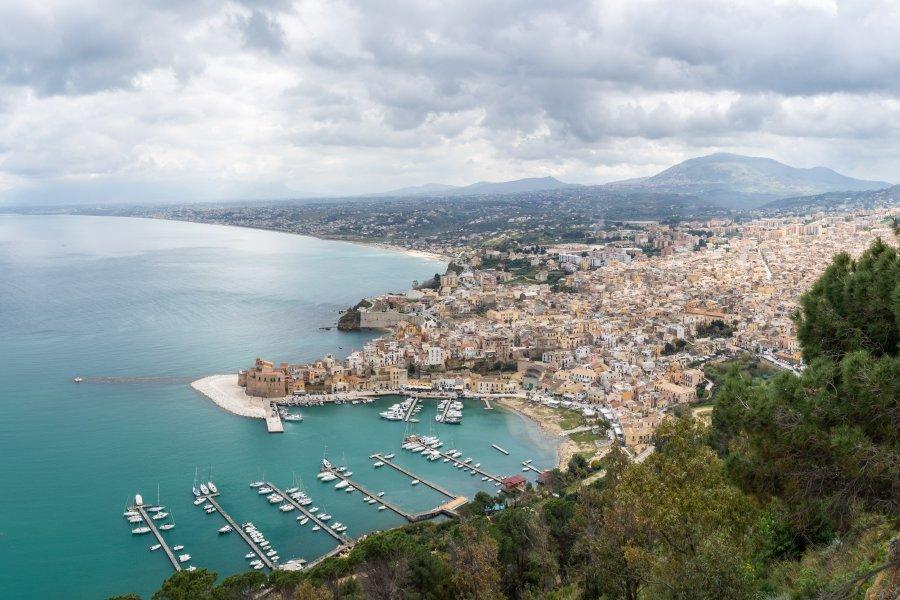 Vue panoramique sur Castellammare del Golfo, Sicile
