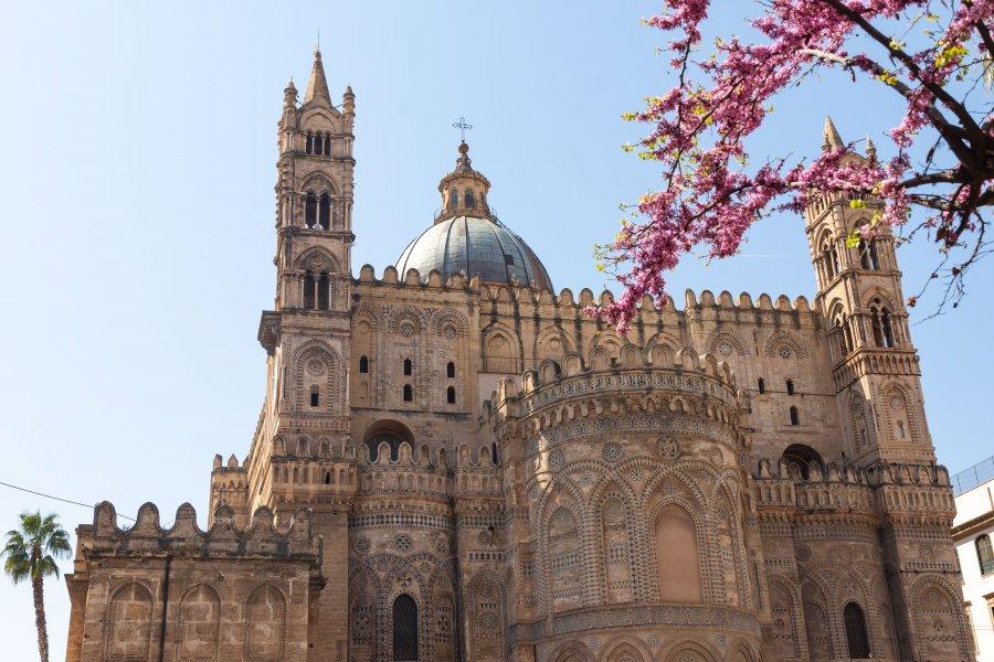 Cathédrale de Palerme au printemps