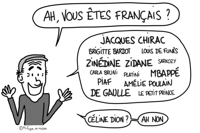 Dessin : la passion des gens à l'étranger, nous citer toute la liste des Français et Françaises qu'ils connaissent