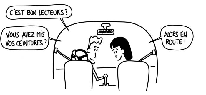 Dessin : C'est bon lecteurs, vous avez mis vos ceintures ?