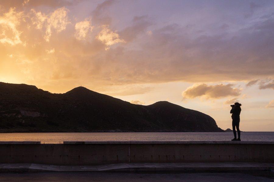 Coucher de soleil sur l'île de Favignana