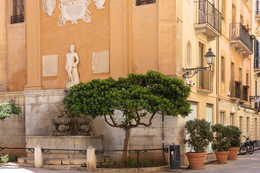 Fontaine à Trapani, Sicile, Italie