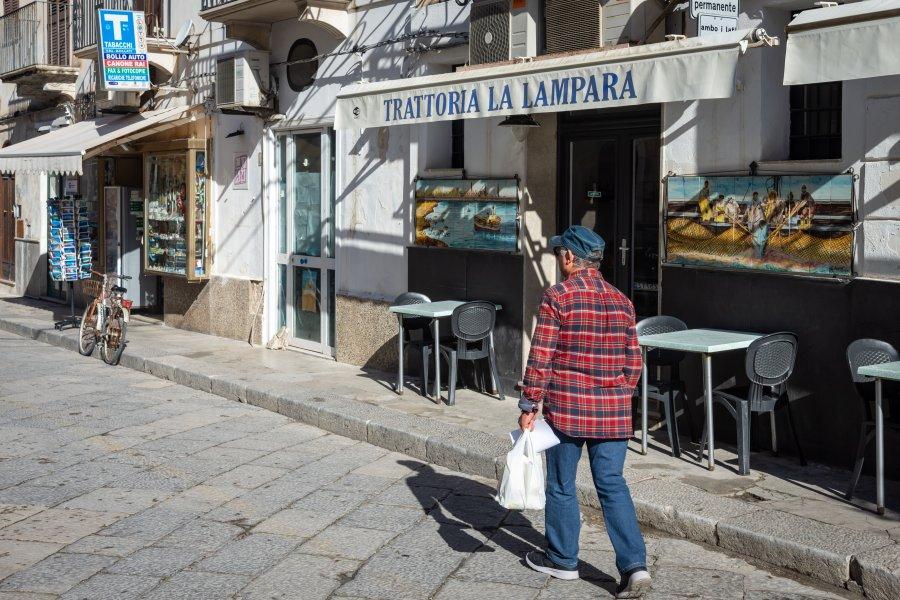 Rue de Favignana, Sicile, Italie