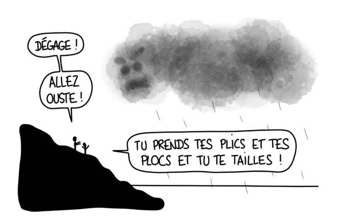Dessin : Dégage le méchant nuage !