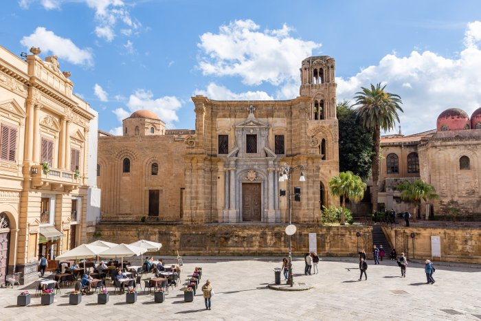 Piazza Bellini à Palerme, Sicile