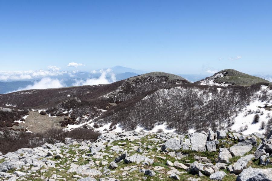 Sommet du Pizzo Carbonara, montagnes des Madonie