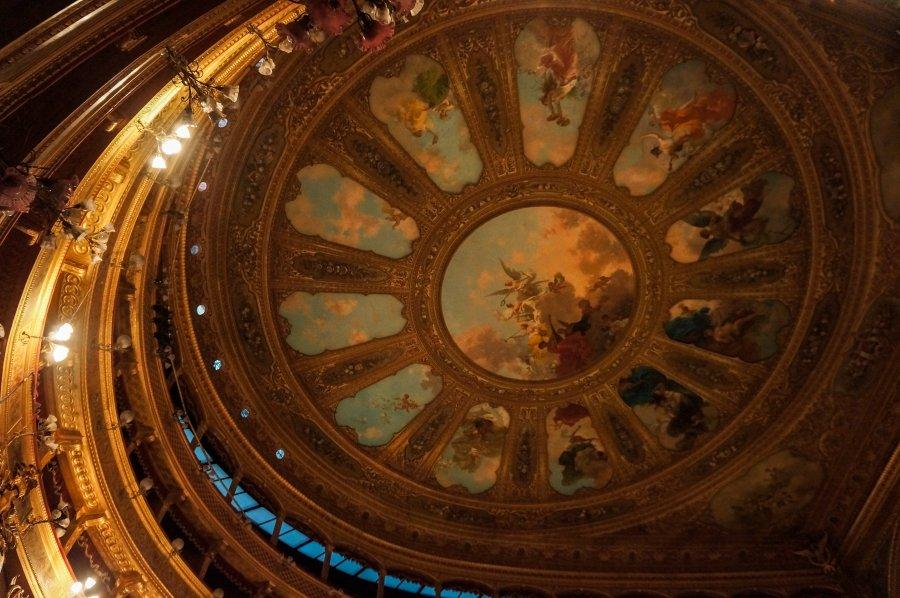 Plafond du Teatro Massimo à Palerme