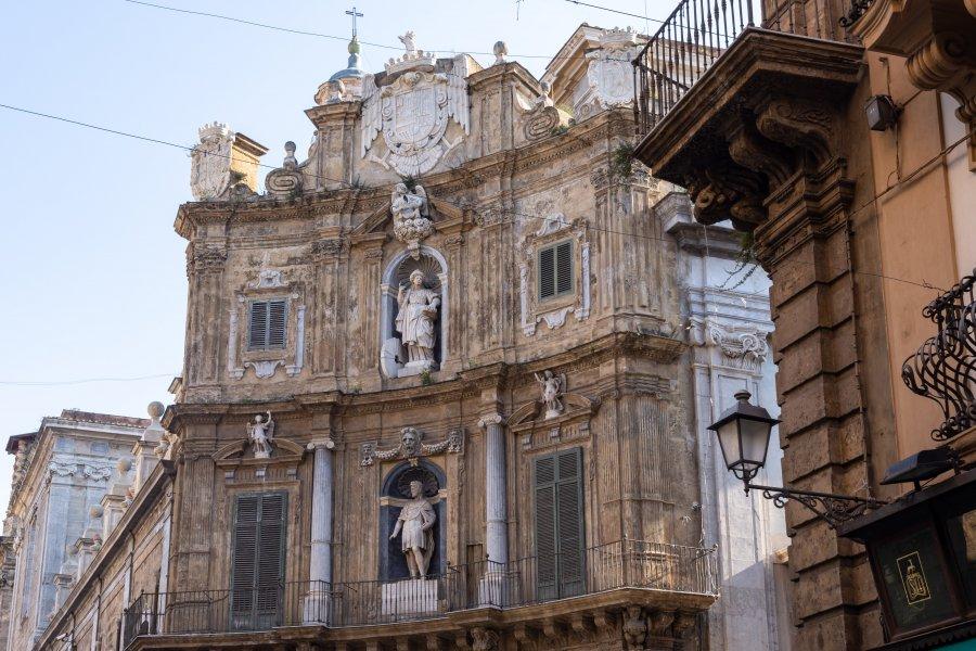 Place Quattro Canti, Palerme, Sicile