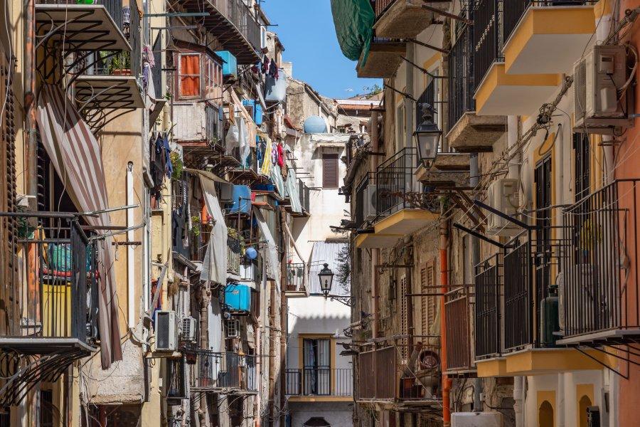 Rue de Palerme en Sicile