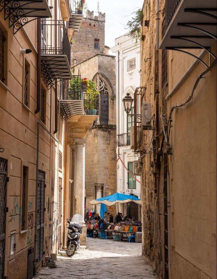 Ruelle de Palerme en Sicile