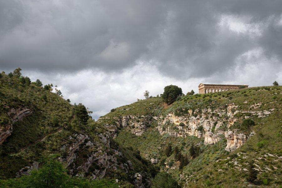 Temple de Ségeste, Sicile, Italie