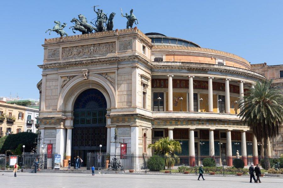 Théâtre Politeama à Palerme, Sicile