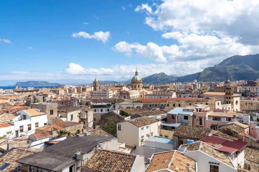 Vue sur les toits de Palerme, Sicile