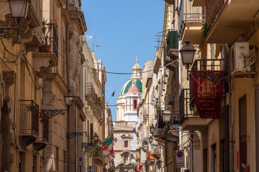 Ville de Trapani en Sicile, Italie