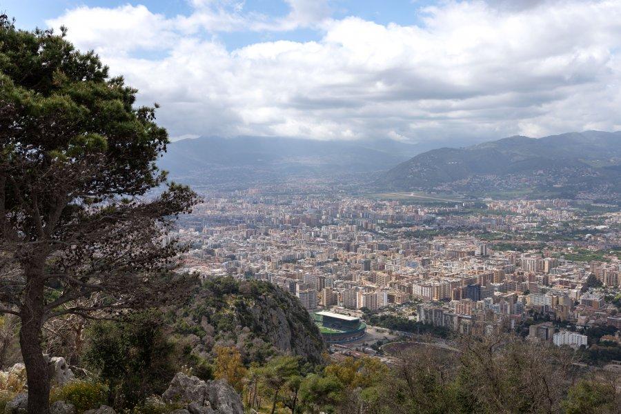Vue sur Palerme depuis le Monte Pellegrino