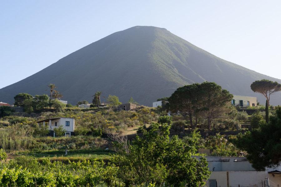 Village de Malfa, île de Salina, Sicile