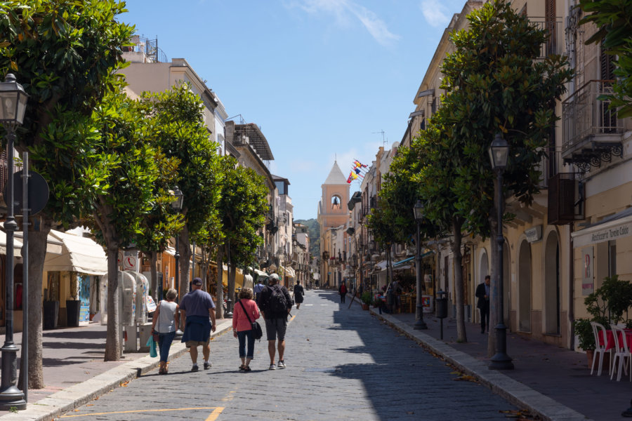 Centre-ville de Lipari, Sicile, Italie