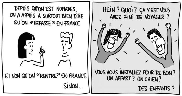 Dessin : on repasse en France