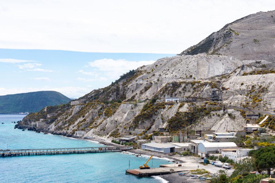 Carrières de pierre ponce à Porticello, Lipari