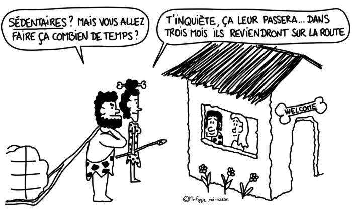 Dessin : nomades vs sédentaires préhistoriques