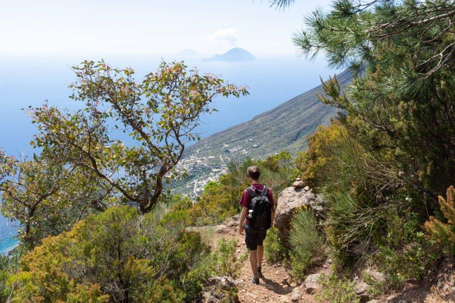 Randonnée sur le Monte Fossa delle Felci, Salina