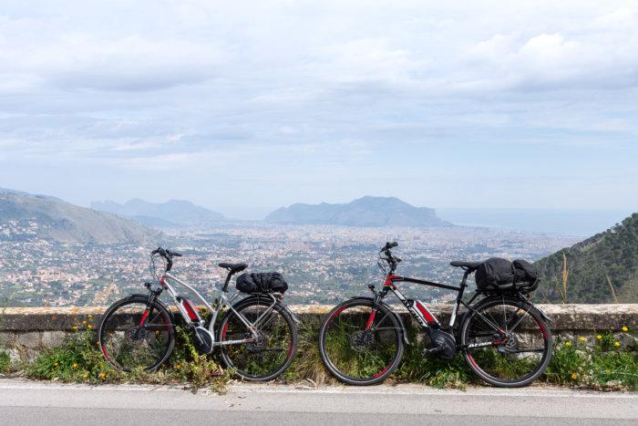 Balade à vélo autour de Palerme en Sicile