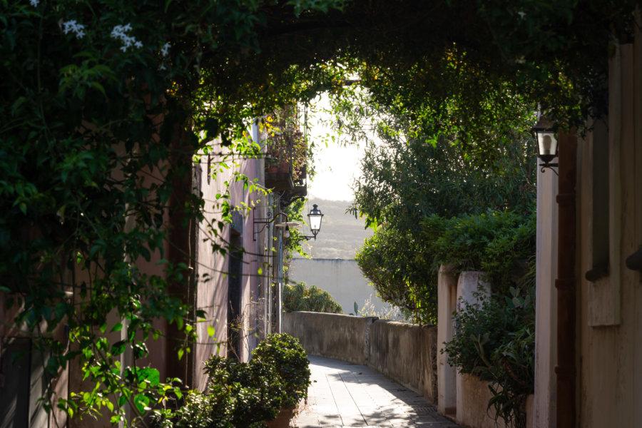 Village de Malfa, île éolienne de Saline, Sicile