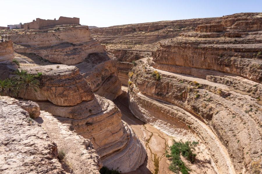 Canyon de Midès en Tunisie