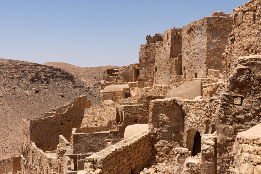 Ksar du vieux village de Chenini, Tunisie