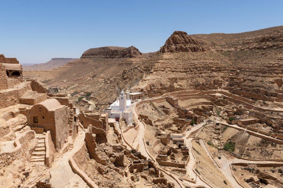 Village troglodytique de Chenini en Tunisie