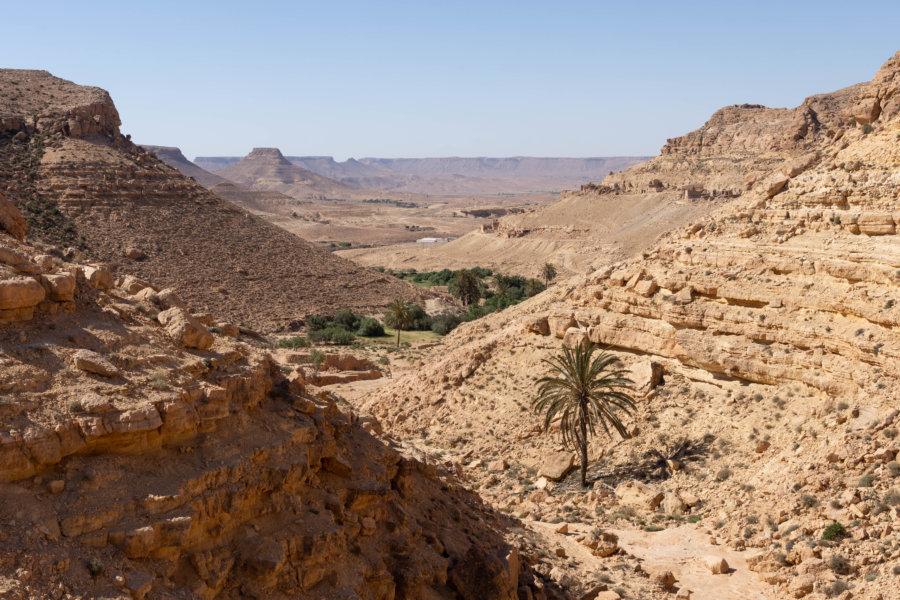 Randonnée entre Douiret et Chenini, Tunisie