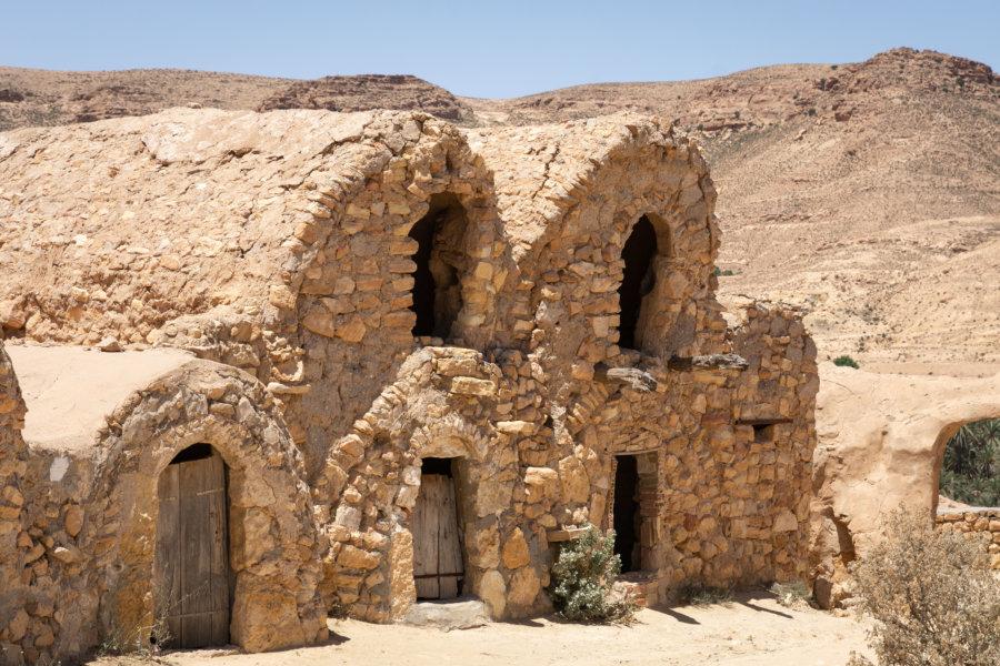 Ghorfas du Ksar Hallouf, Tunisie